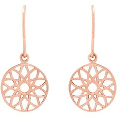 Auren 18ct Rose Gold Vermeil Dreamcatcher Drop Earrings (1 480 UAH) ❤ liked on Polyvore featuring jewelry, earrings, gold vermeil jewelry, vermeil jewelry, charm earrings, earring jewelry and rose charm