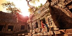 Explore the temples of Angkor Wat, overflowing with history, art and architectural wonders.