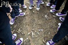 purple converse Black And White Converse, Purple Converse, Purple Sneakers, Purple Groomsmen, Greenhouse Wedding, Cute Wedding Ideas, Wedding Pictures, Wedding Stuff, Purple Wedding