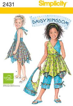 Simplicity Sewing Pattern 2431 Child's Dresses, « Dress Adds Everyday I like this for grown-up summer dress.
