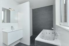 antraciet wit more wandtegels combinatie badkamer antraciet wit ...