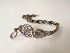 Delware Spoon Bracelet in Antique Brass by GeorginaBaker on Etsy, $36.00