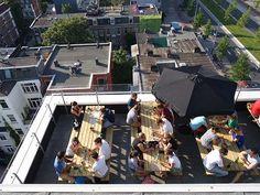 Canvas op de 7e Amsterdam: rooftop dining Volkshotel | http://www.yourlittleblackbook.me/canvas-op-de-7e-amsterdam/