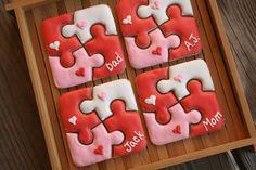 Puzzle Valentine Cookies. by navygreen, via Flickr
