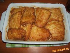 Pangas po mojom :-))) Fish Recipes, Meat Recipes, Fish And Meat, Ham, French Toast, Breakfast, Rezepte, Steak Recipes, Hams