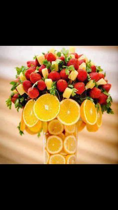 Now that's what I call a fabulous fruit bouquet!