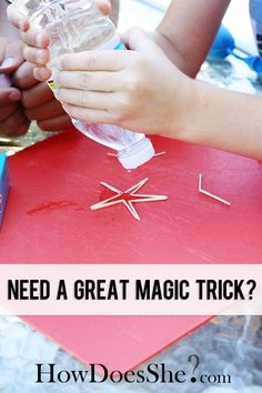 Need a Great Magic Trick? In my previous life:) I taught science and I had to convince Jr. High kids that science was cool.  I tried to use magic tricks to te