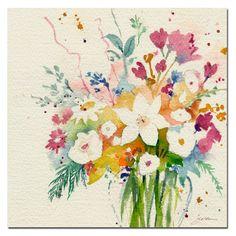 Sheila Golden 'Dream Bouquet' Canvas Art - Overstock™ Shopping - Top Rated Trademark Fine Art Canvas