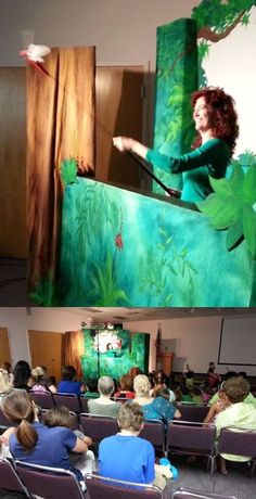 "Katie Adams' ""Animals of the Amazon Rain Forest"" show was a big hit today!"