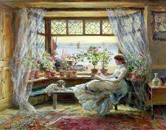 charles-james-lewis-1880-leyendo-en-la-ventana.