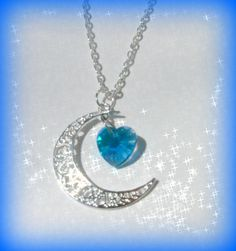 I Love You To The Moon and Back Pendant Blue $20.00