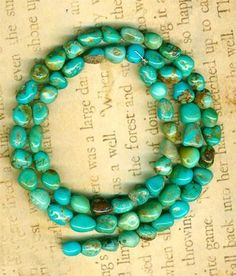 """Southwest Kingman Mine Turquoise Beads 5mm to 9mm Blue Glow All Natural 16"""" Strd 