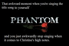 That awkward moment when you realize that you shouldn't be singing in the first place.