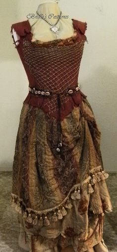 "I have in mind a ""wood witch"" inspired by Tia Dalma (Pirates) as a swamp witch. Or even a bayou gypsy! Voodoo Costume, Voodoo Halloween, Witch Costumes, Halloween Costumes, Pocahontas Halloween, Sea Witch Costume, Fish Costume, Pocahontas Costume, Witch Dress"