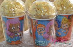 Bubble Guppies Birthday Party Cups-Popcorn Favor-Set of 8 on Etsy, $12.40