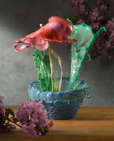 Splash of paint - Jack Long's Vessels and Blooms  INCREDIBLE