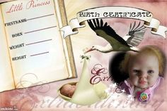 birth certificate nora Birth And Death, Birth Certificate, Reborn Dolls, Little Boys, I Movie, Marriage, Nursery, Personal Care, Template