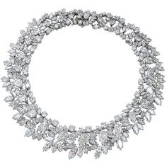 1STDIBS.COM Jewelry & Watches - Harry Winston - Highly Important HARRY... ❤ liked on Polyvore featuring jewelry, necklaces, diamond jewelry, antique diamond jewelry, platinum jewelry, harry winston and diamond jewellery