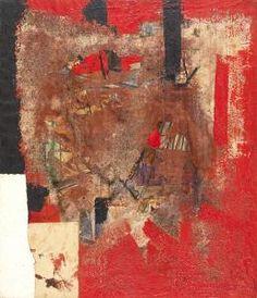 Alberto Burri - Rosso Nero 1953