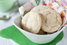 Chewy Lime Sugar Cookies..These were so delicious in both taste and texture. They did turn out flatter than the picture, but that wasn't a big deal. I did not have a lime on hand, so used some lime curd in place of the zest (did have lime juice). T<3