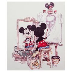 Walt Disney and Mickey Mouse Cross Stitch Set | More Art | Disney Store 50