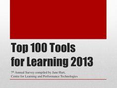 Colección del Top 100 de herramientas para la enseñanza-aprendizaje de 2013