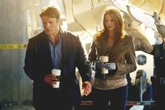 Still of Nathan Fillion and Stana Katic in Castle - Kick The Ballistics