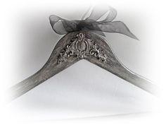 Silver Grey Groom Hanger. Best Man Hanger. Personalized Wedding Hanger.Groomsmen Gift Wedding Name Hanger Bridal Groom Hanger.Gift for Groom by VintageShabbyRustick on Etsy