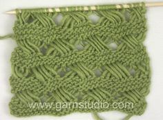 DROPS Knitting Tutorial: How to knit Indian Cross stitches