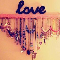 #DIY necklace holder