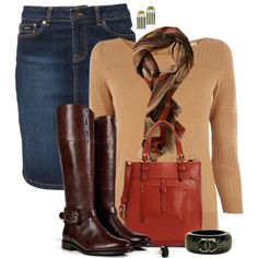 """""""Denim and boots"""" by mommygerloff on Polyvore"""