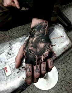 Hand portrait Tattoo with font   #Tattoo, #Tattooed, #Tattoos
