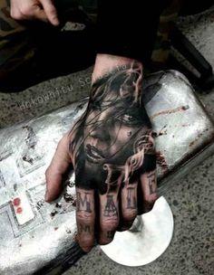 Hand portrait Tattoo with font   #Tattoo, #Tattooed, #Tattoos