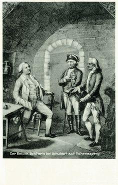 Schillers Besuch bei Schubart auf Hohenasperg (1739-1791) Dichter, Organist und Komponist in Stuttgart