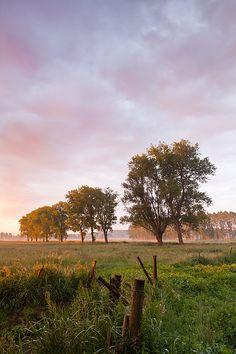Dramatic dawn - Petegem-aan-de-Schelde, Belgium by Bart Heirweg