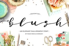 Blush Typeface by Callie Hegstrom on @creativemarket