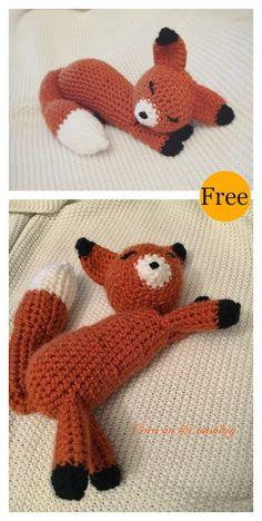 Sleeping Fox Amigurumi Free Crochet Pattern #freecrochetpatterns