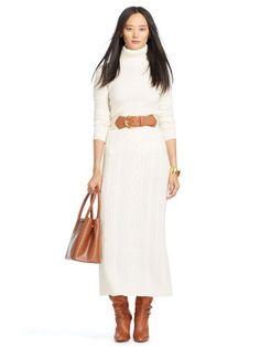 Cabled Wool-Cashmere Maxiskirt - Lauren Maxi Skirts - RalphLauren.com