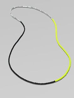 FLorian  Long Colorblocked Bead Necklace