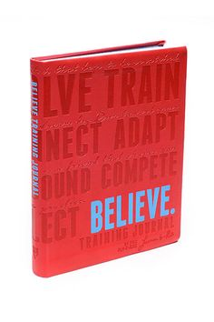 Believe Journal. Believe is an inspiring training journal for women who love to run and those trying out their running legs for the first time. #Gifts #Runners