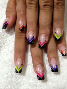 - Best ideas for decoration and makeup - French Tip Nail Designs, French Tip Nails, Cute Nail Designs, Nail Art Stripes, Striped Nails, Manicure Nail Designs, Acrylic Nail Designs, Spring Nail Art, Pretty Nail Art