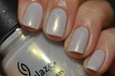 China Glaze White Cap (layered over Essie Marshmallow) @Anna Totten Totten Totten Totten Freedman You need to do this with White Cap!