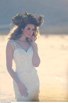 Detailed lace wedding gown. Wedding, Wedding dress. Moonlight Couture style H1199.
