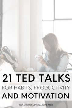 21 TED Talks For Habits, Productivity And Motivation. Since I've found so many amazing TED Talks I thought I would share some of my favourite ones about habits, productivity and motivation. These talks truly encouraged and inspired me and I'm certain the Self Development, Personal Development, Work Motivation, Ted Talks Motivation, Fitness Motivation, Mental Training, Time Management Tips, Good Habits, Work Quotes