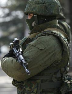 Russian Soldier in Crimea, Ukraine.