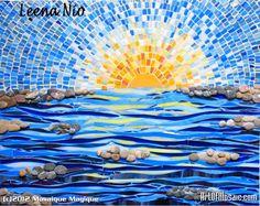 Stone waves Mosaic wall art