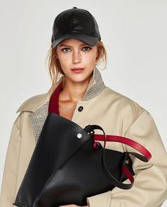Reversible Studded Tote Bag // USD // Zara // Height x Width x Depth: 32 x 45 x 9 cm. / 13 x 18 x Zara Fashion, Fashion Models, Fashion 2017, Moda Zara, Zara Official Website, Online Zara, Zara New, Zara Bags, New Wardrobe