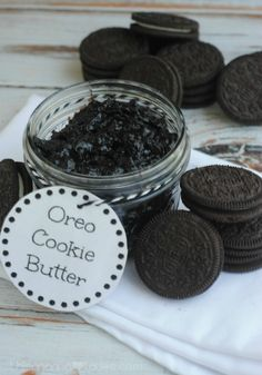 Oreo Cookie Butter- homemade and oh so chocolatey!