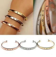 Love Cuff Bracelets