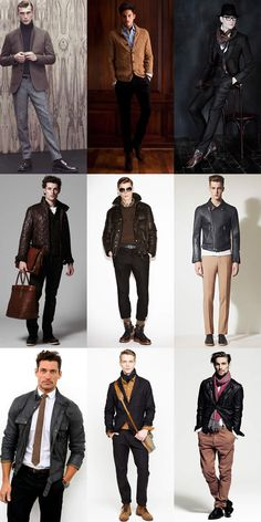 Men's Black With Brown Lookbook Ill never know why brown and black was ever a bad idea :)